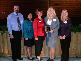 Accepting our Employer of the year award in 2006.