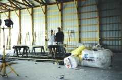 2000 - St. Joseph building under construction. Darn right! We put some elbow grease into the building project.
